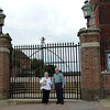 Gate to Harow School.  Harrow is an very exclusive independent school where some interior scenes in the Harry Potter movies were filmed.  Harrow School we know today was officially founded by John Lyon under a Royal Charter of Elizabeth I in 1572
