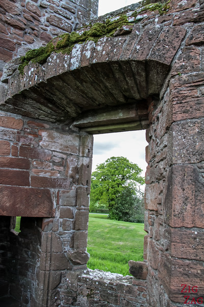 Caerlaverock Castle Scotland - inside 3