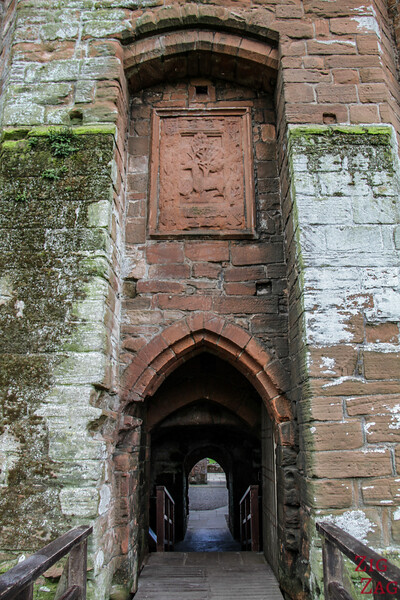 Caerlaverock Castle Scotland - gate