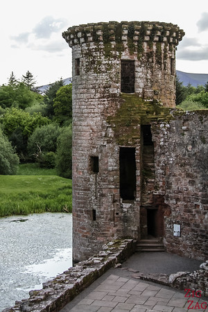 Caerlaverock Castle Scotland - inside 2