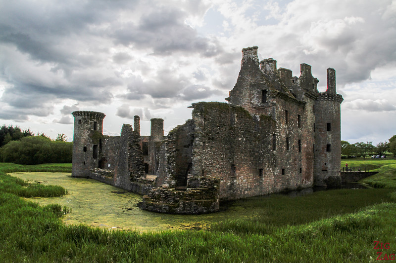 Caerlaverock Castle Scotland - outside 5