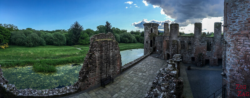 Caerlaverock Castle Scotland - inside 4