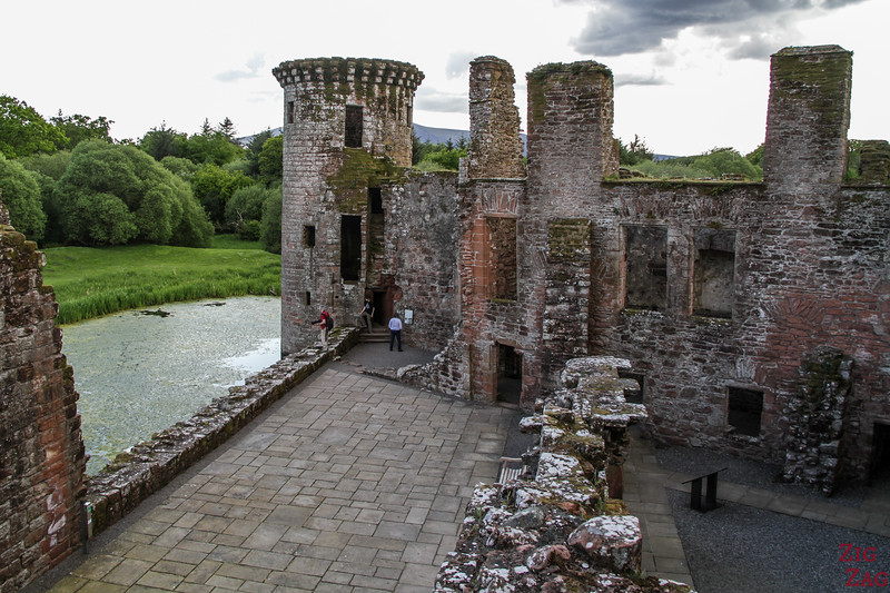 Caerlaverock Castle Scotland - inside 1