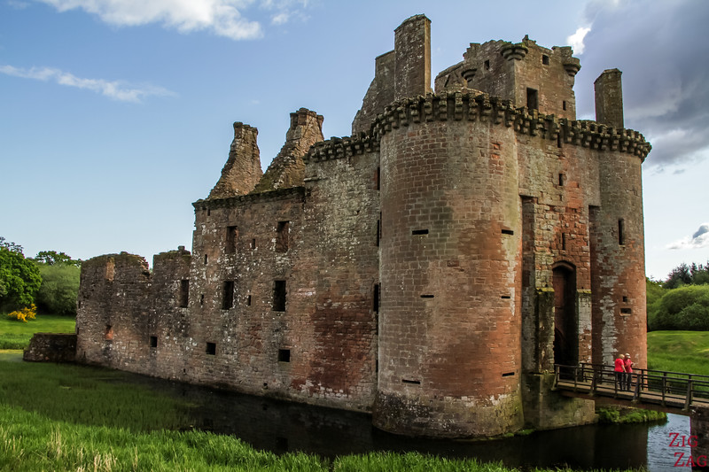 Caerlaverock Castle Scotland - outside 7