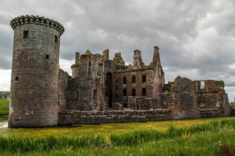 Caerlaverock Castle Scotland - outside 4