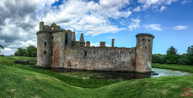 Caerlaverock Castle Scotland - outside 2
