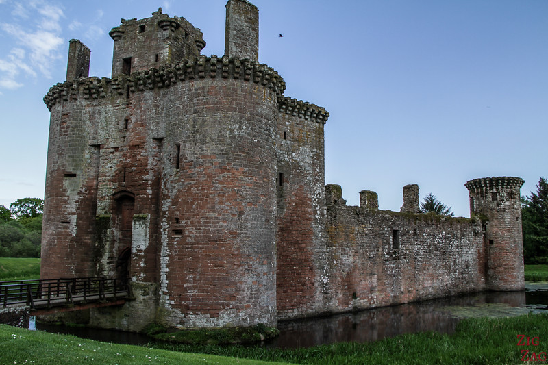 Caerlaverock Castle Scotland - outside 1