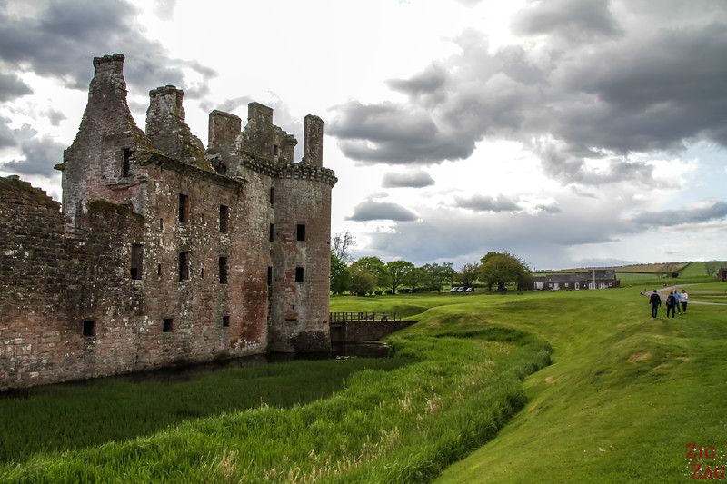 Caerlaverock Castle Scotland - outside 6