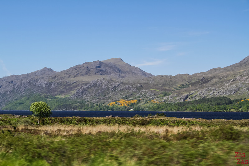 Driving along Loch Maree Scotland 3