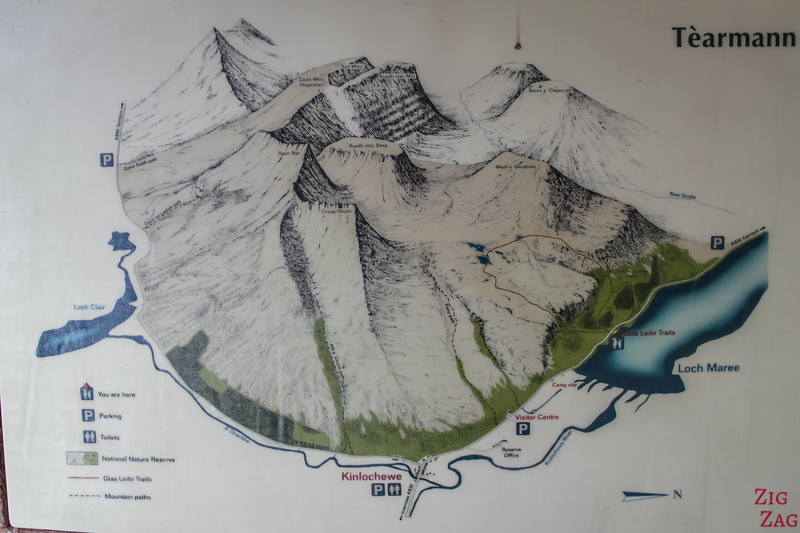 Beinn Eighe Reserve map