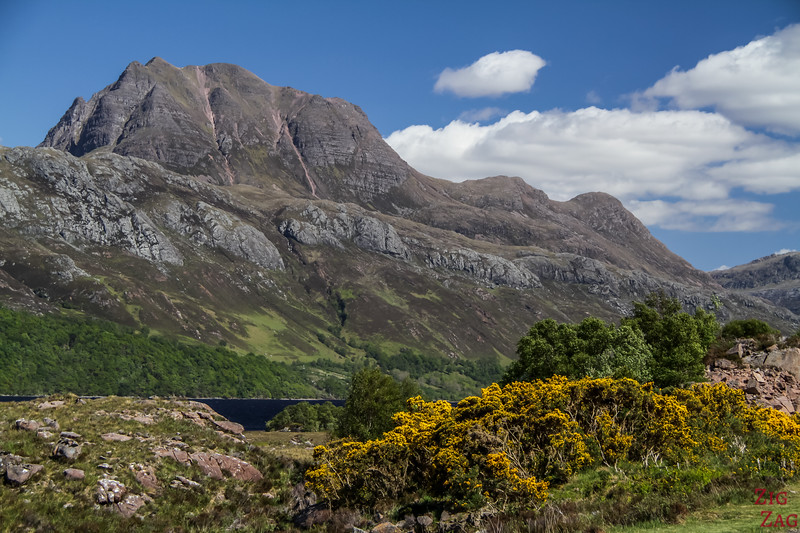 View of Slioch Loch Maree Scotland 3