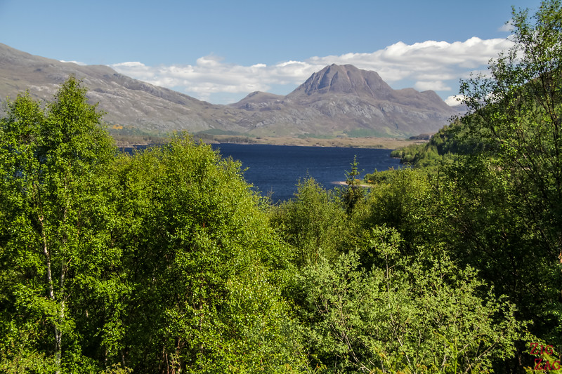View of Slioch Loch Maree Scotland 4