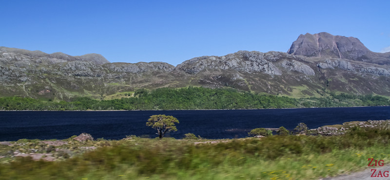Driving along Loch Maree Scotland 4