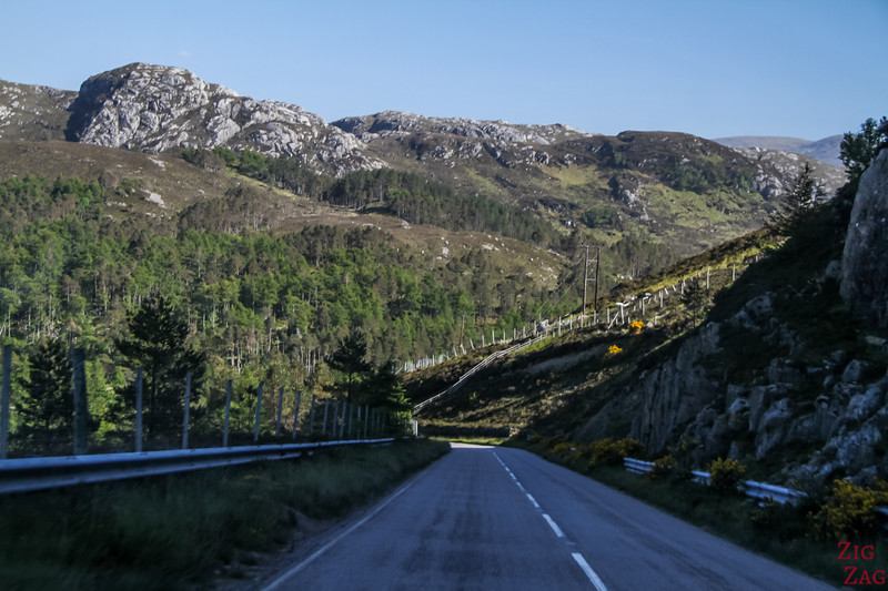 Driving in Wester Ross Scotland 1