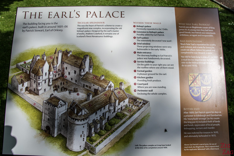 Earl's Palace Kirkwall Map