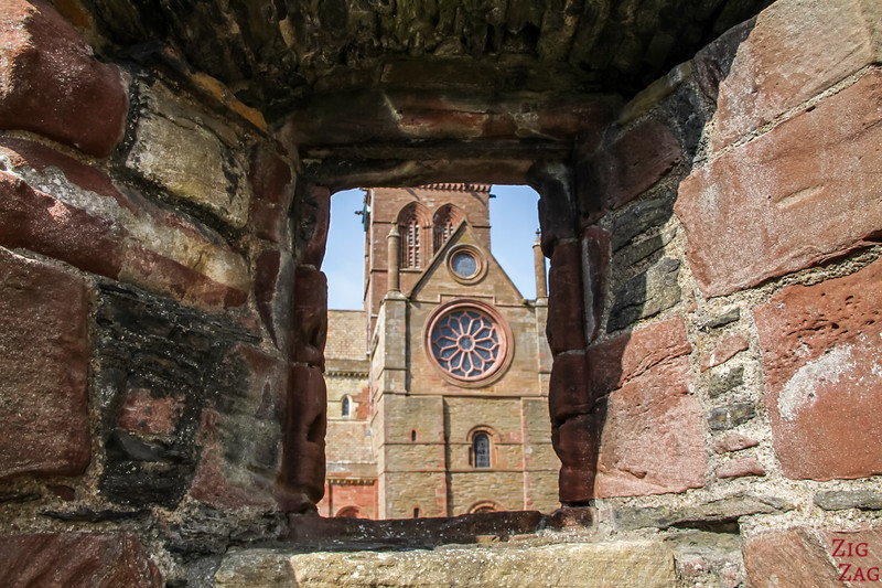 View of St Magnus Cathedral Kirkwall Orkney 1