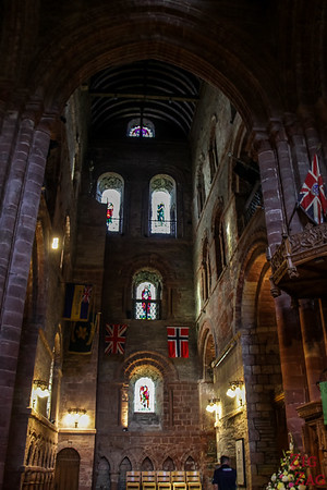 Inside Kirkwall Cathedral St Magnus 2
