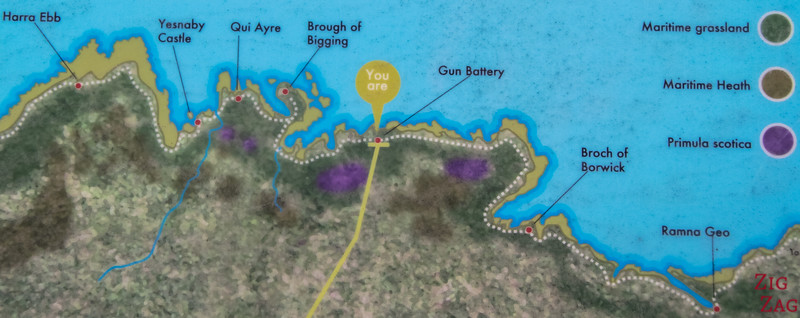 yesnaby Coastal Walk Map