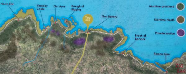 yesnaby Coastal Walk Map