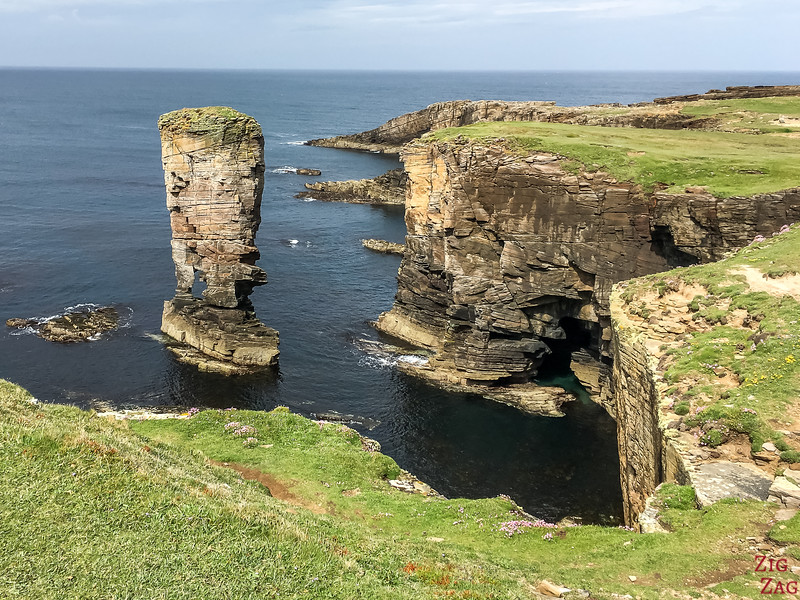 Yesnaby Castle sea stack Orkney 5