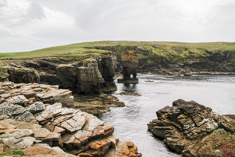 Yesnaby Castle sea stack Orkney 2