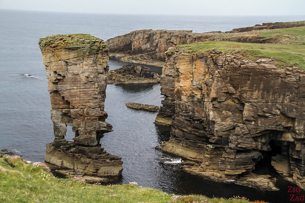 Yesnaby Castle sea stack Orkney 7