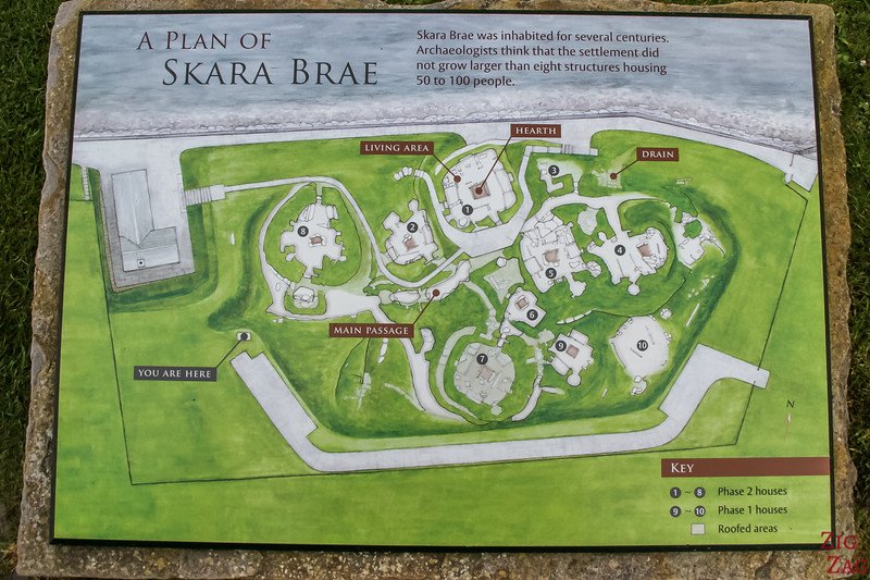 Village de Skara Brae carte