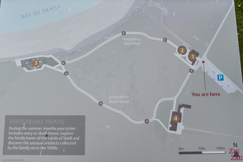 Skara Brae Orkney Site Map