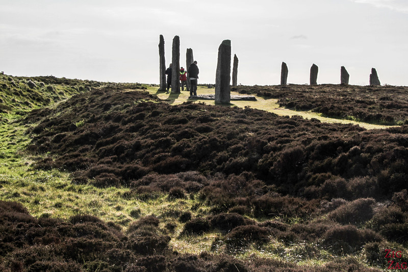 Size stones Ring of Brodgar