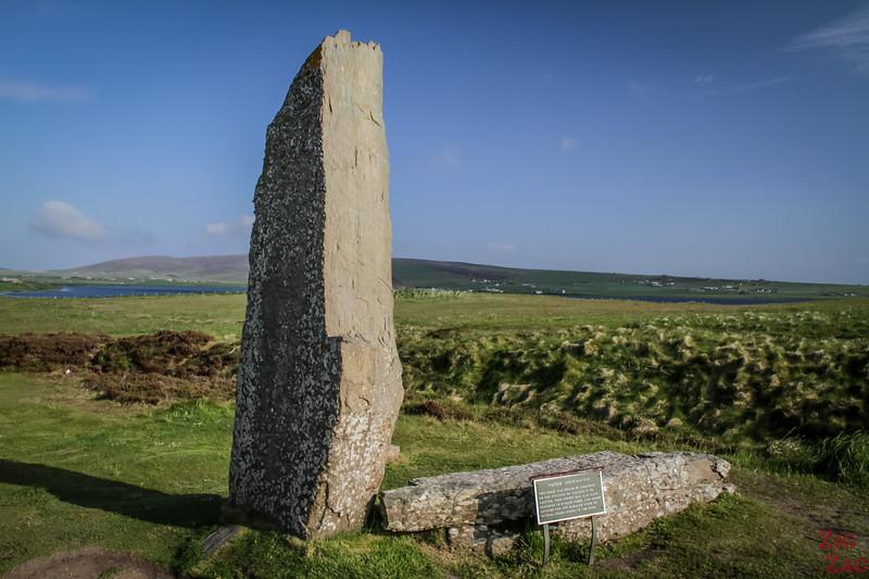 split stone Ring of Brodgar