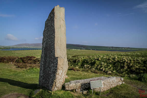 The Ring of Brodgar Orkney  - the split stone by lightening