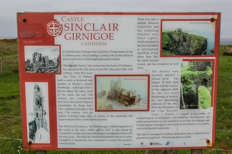 Castle Sinclair Girnigoe Castle INfo