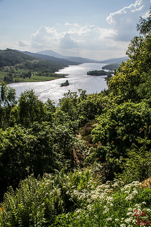 The Queen's View Scotland over Loch Tummel 4