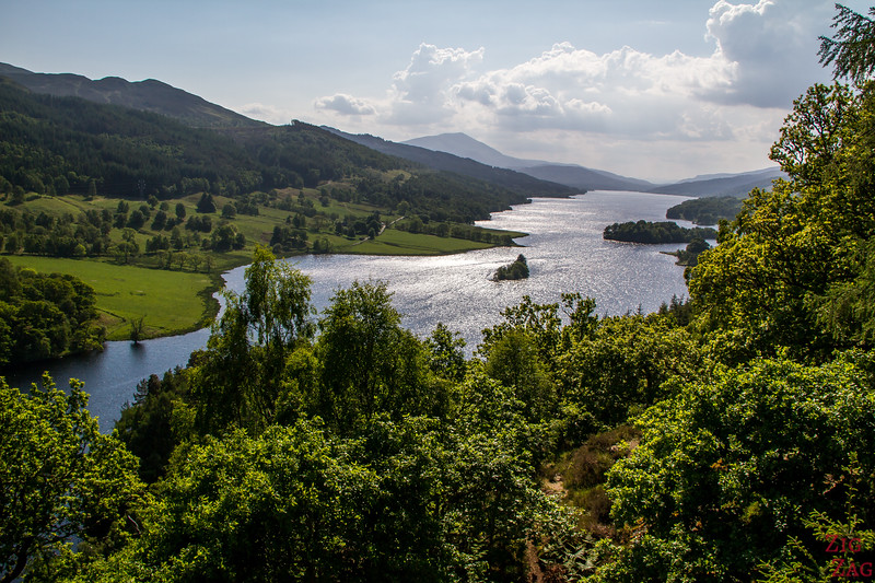 The Queen's View Scotland over Loch Tummel 3