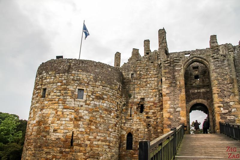 Dirleton Castle Scotland Facade 4