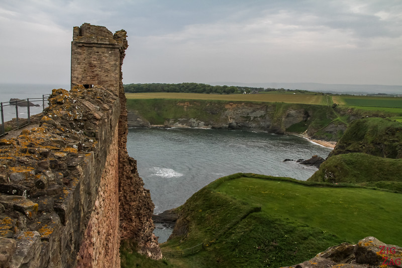 Top of Tantallon Castle Scotland 6