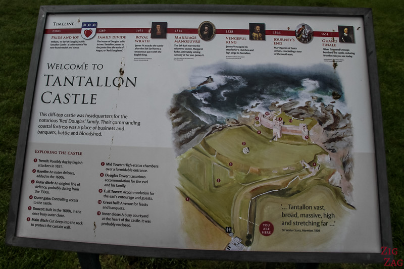 Tantallon Castle Map