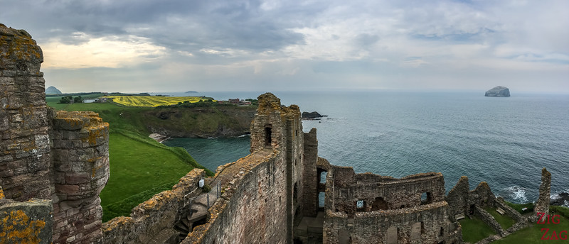 Top of Tantallon Castle Scotland 8