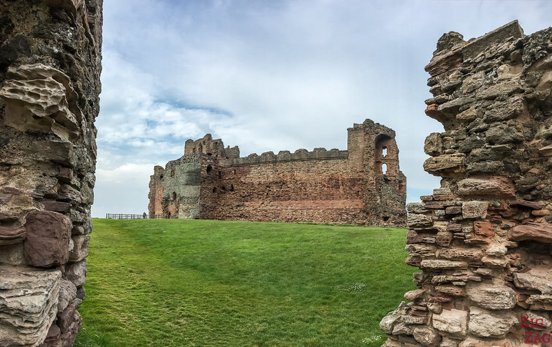 Tantallon Castle Scotland Wall 1