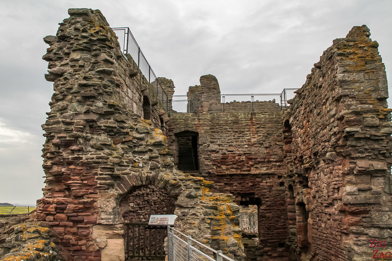 Top of Tantallon Castle Scotland 4