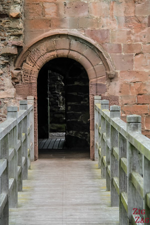 exploring Tantallon Castle Scotland 1