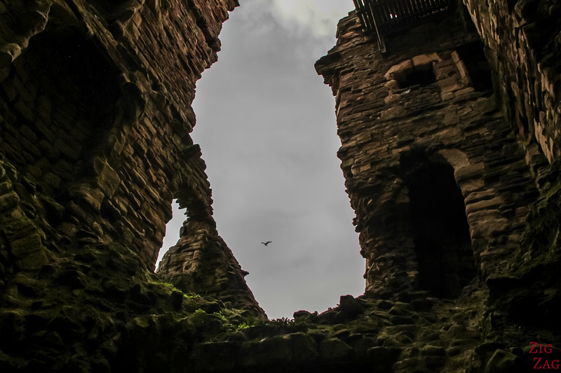 exploring Tantallon Castle Scotland 3