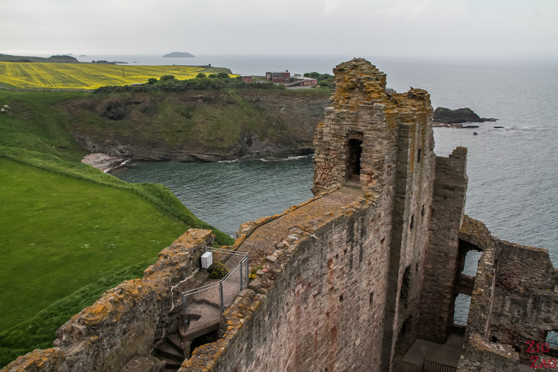 Top of Tantallon Castle Scotland 7