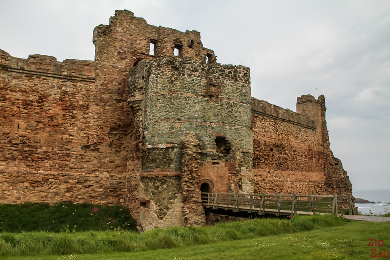 Tantallon Castle Scotland Wall 3