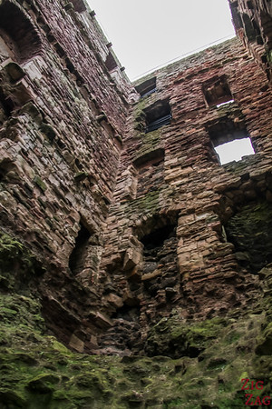 exploring Tantallon Castle Scotland 2