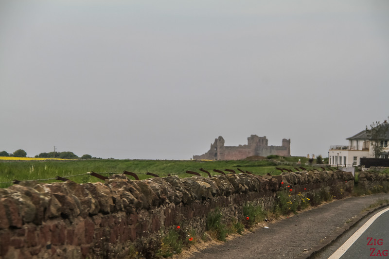 Approaching Tantallon Castle 1