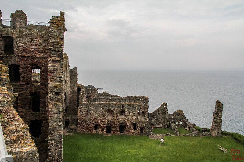 Top of Tantallon Castle Scotland 3