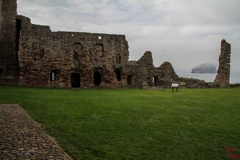 Tantallon Castle Scotland sea cliffs 1
