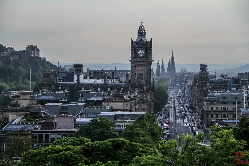 Princes street from Calton HIll Edinburgh