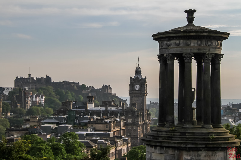 Edinburgh Castle view from Calton Hill Edinburgh 2